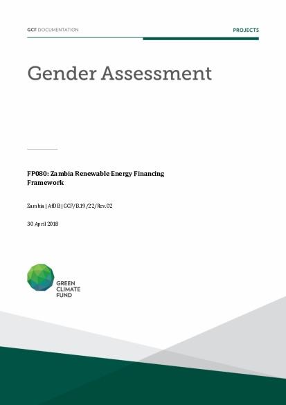 Gender Assessment For Fp080 Zambia Renewable Energy